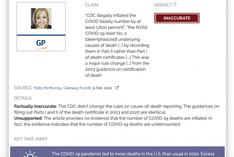 """The CDC didn't introduce a """"major rule change"""" to inflate COVID-19 deaths; there have been more than 490,000 excess deaths in the US to date - Health Feedback"""